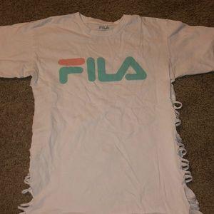 White Fila Shirt